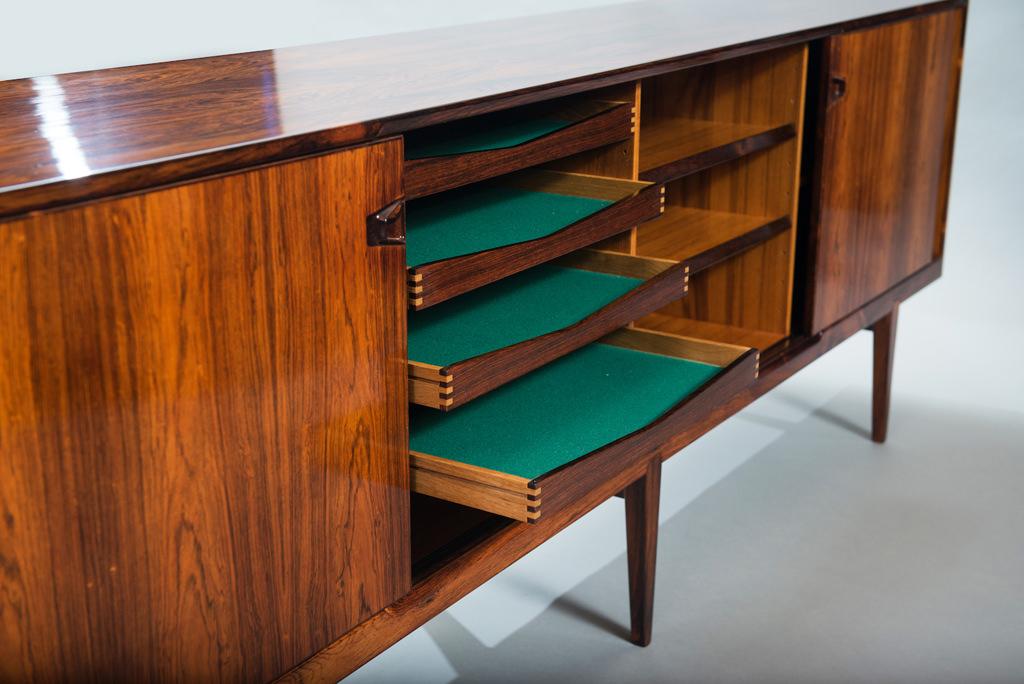 H. Rosengren Hansen Rosewood Danish Sideboard | 1