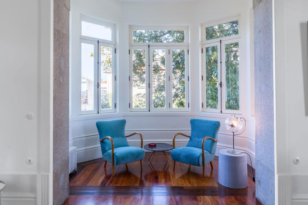 50's Italian armchair pair | The Blue Guest House, Porto, Portugal