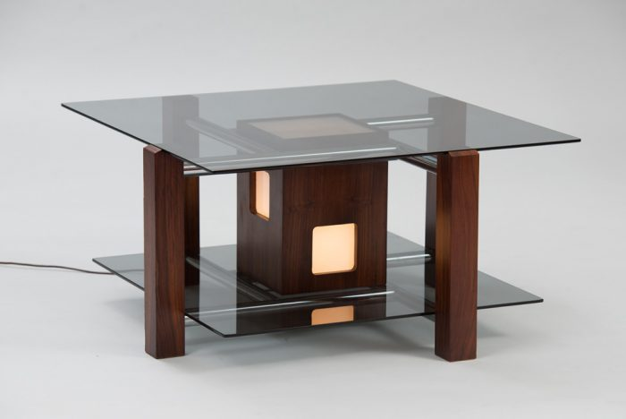 Italian 1970s Lit Coffee Table