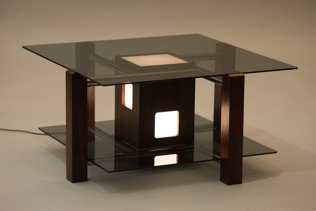 Italian 1970s Lit Coffee Table | 1