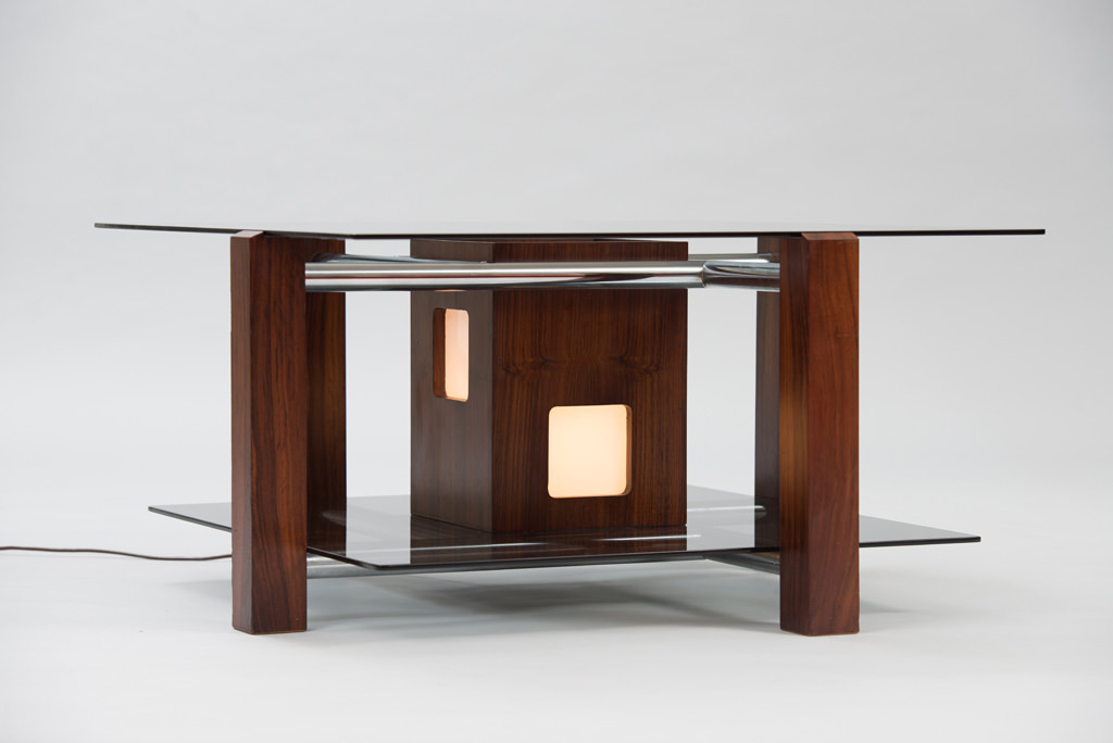 Italian 1970s Lit Coffee Table | 2