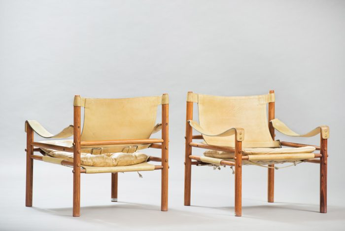 Arne Norell Sirocco Rosewood Chairs