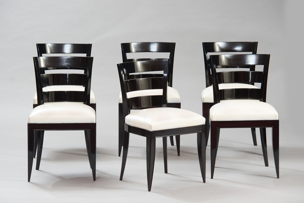 Art Deco Dining Chairs Set of Six | 4