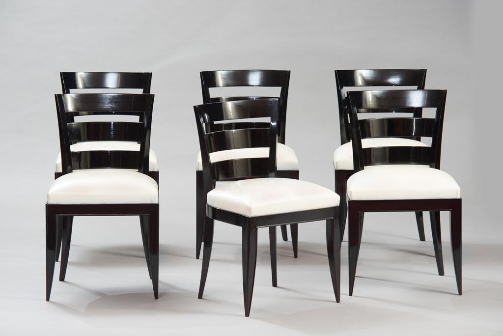 Conjunto de seis Cadeiras de Jantar Art Deco | 4
