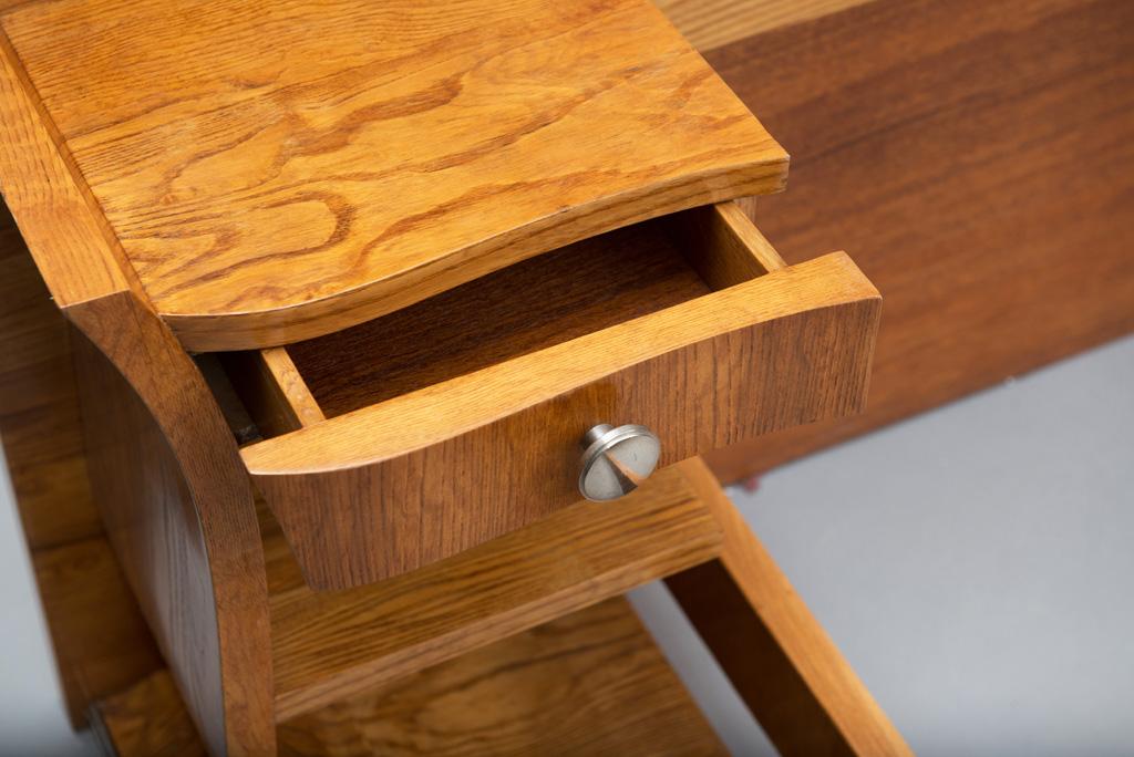 Cama de Casal Art Deco com mesas de Cabeceira | 3