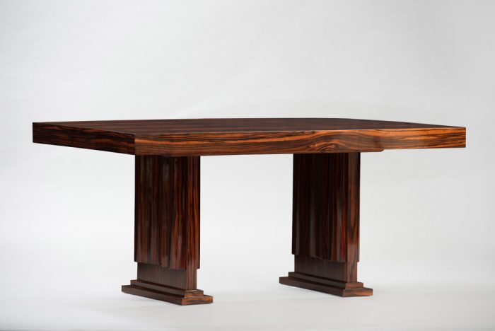 Art Deco Macassar Dining Table