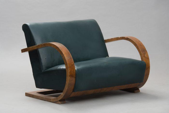 Sofá Art Deco em Raíz de Nogueira