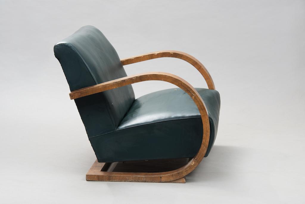 Sofá Art Deco em Raíz de Nogueira | 1