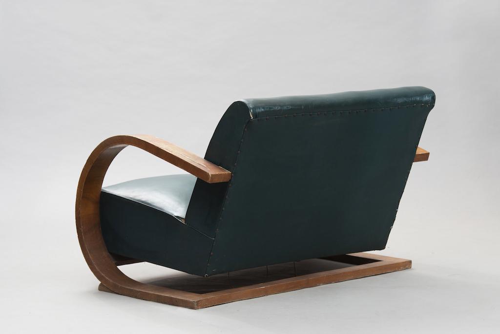 Sofá Art Deco em Raíz de Nogueira | 2