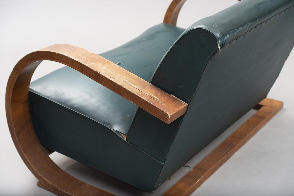 Sofá Art Deco em Raíz de Nogueira | 3