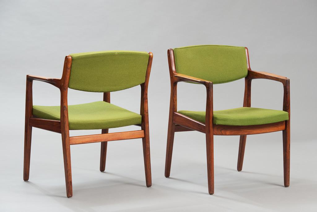 Cadeiras de Braço Erik Buch Anos 60 para a Ørum Møbelfabrik