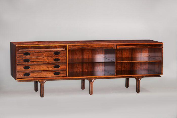 Gianfranco Frattini rosewood sideboard | 2