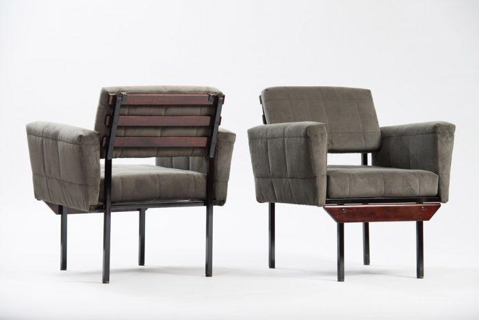 Small Italian Mid-century Modern Armchairs