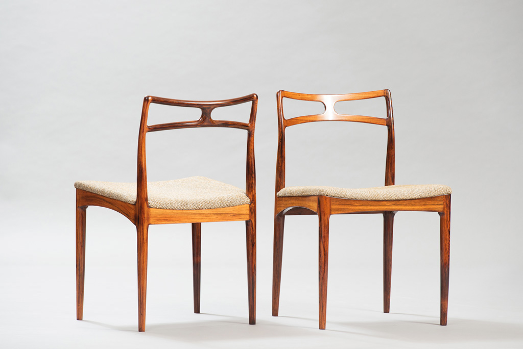 Cadeiras de Jantar em Pau-santo Johanner Andersen para Christian Linneberg Mobelfabrik