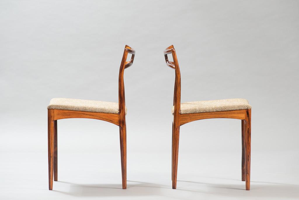 Cadeiras de Jantar em Pau-santo Johanner Andersen para Christian Linneberg Mobelfabrik   1
