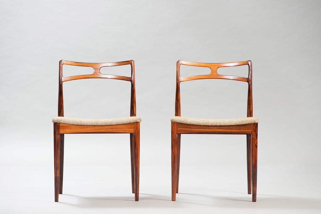 Cadeiras de Jantar em Pau-santo Johanner Andersen para Christian Linneberg Mobelfabrik   2