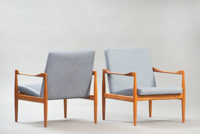 Kai Kristiansen Teak Lounge Chairs for Fritz Hansen