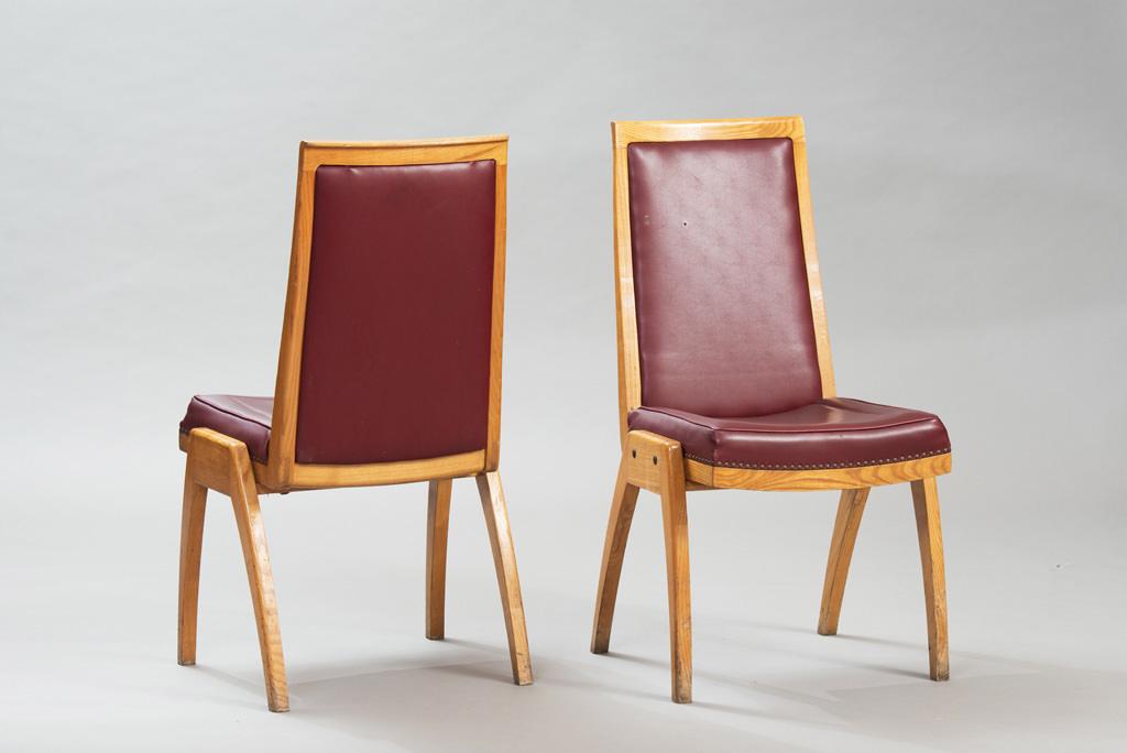 Conjunto de Sete Cadeiras de Jantar Anos 50