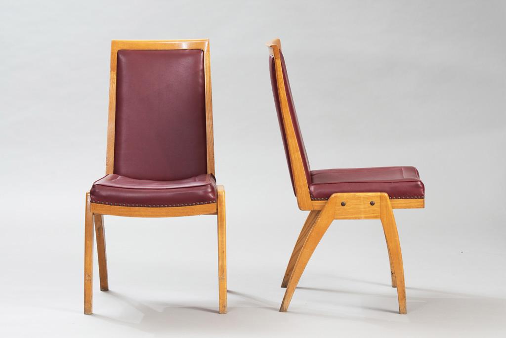 Conjunto de Sete Cadeiras de Jantar Anos 50 | 1