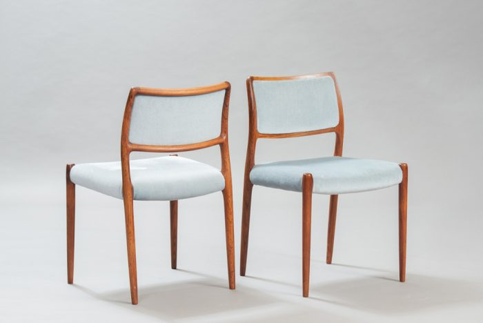 Niels O. Moller Rosewood Dining Chairs for J. L. Mollers