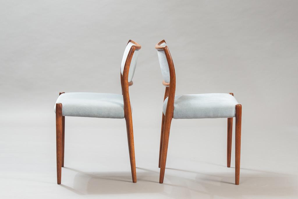 Cadeiras de Jantar em Pau-santo Niels O. Moller para a J. L. Mollers | 1