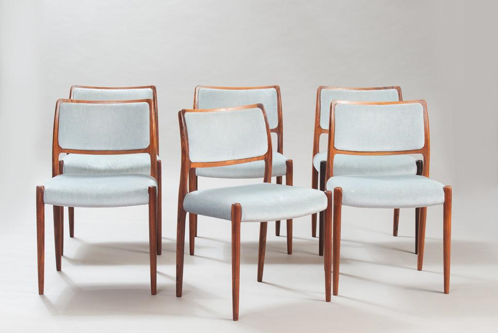 Cadeiras de Jantar em Pau-santo Niels O. Moller para a J. L. Mollers | 3