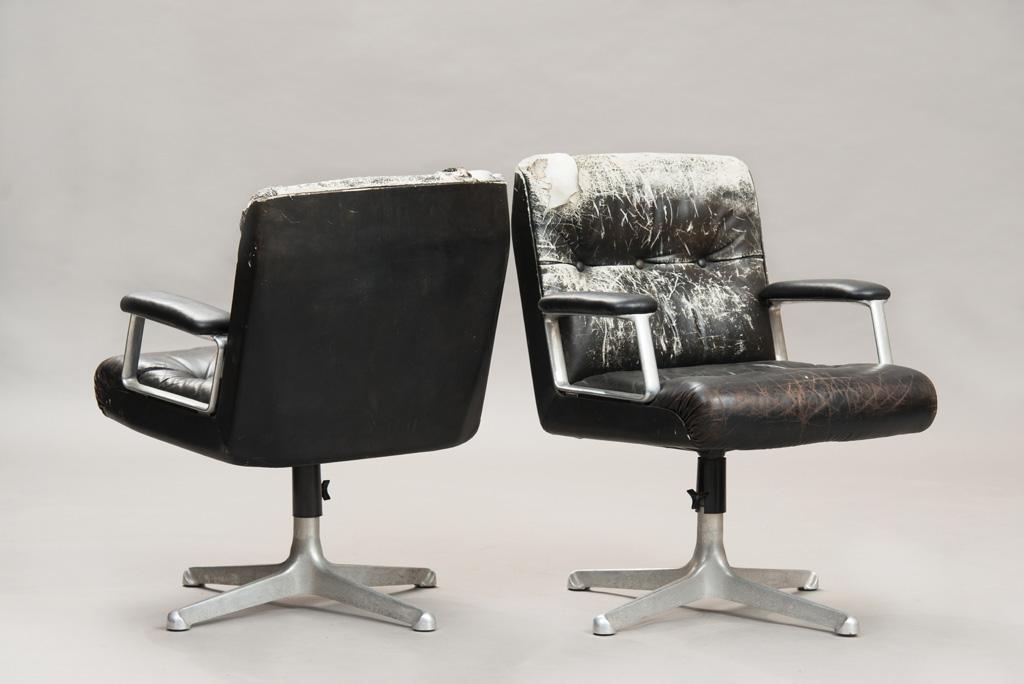 Cadeiras de Escritório P125 de Osvaldo Borsani para a Tecno | Um Par