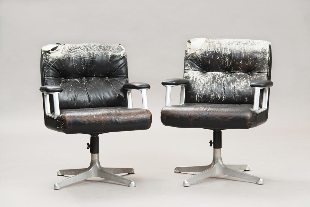 Cadeiras de Escritório P125 de Osvaldo Borsani para a Tecno | Um Par | 1