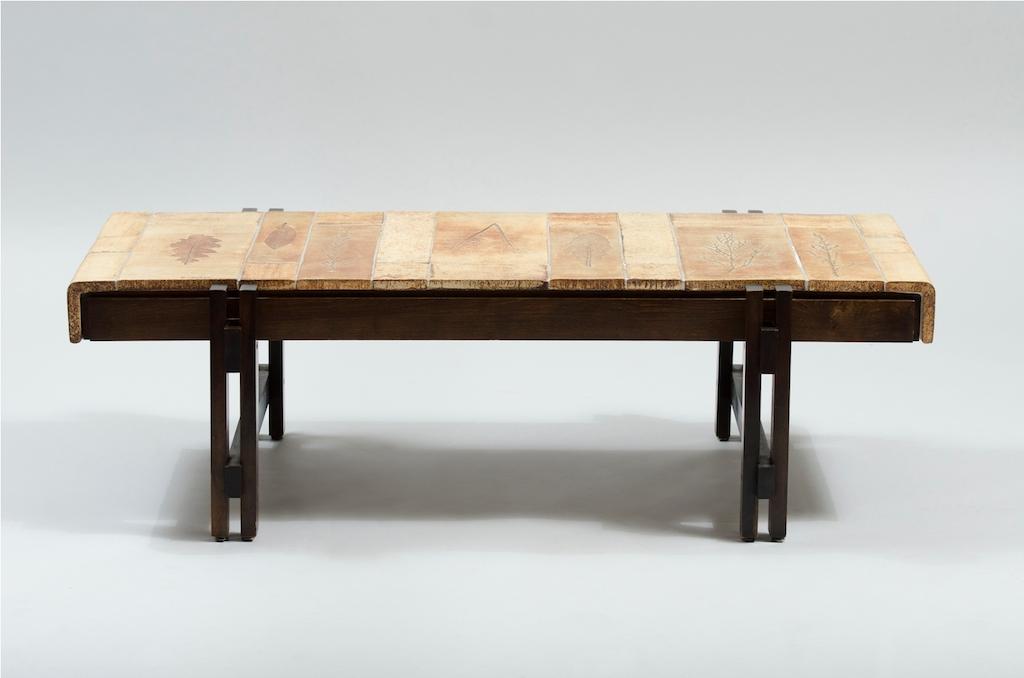 Mesa de frente de sofá de Roger Capron para a Vallauris | 1