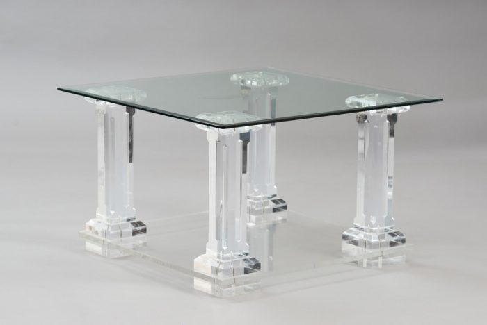 1970's Lucite Side Table