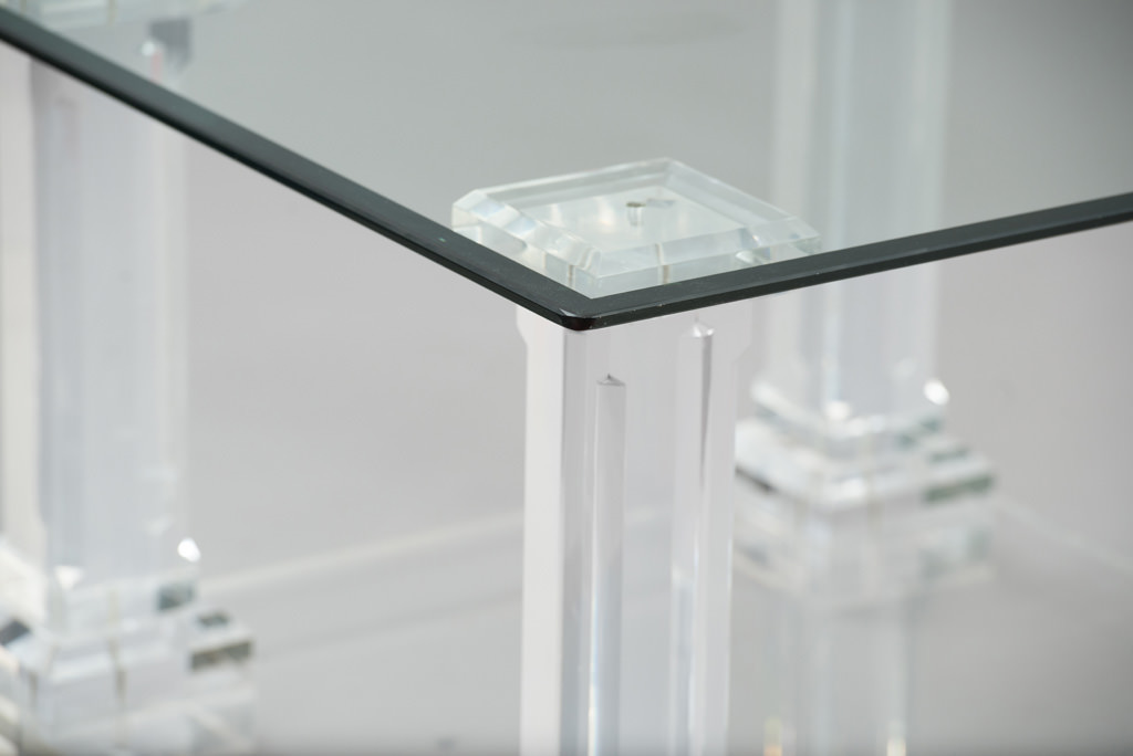 1970's Lucite Side Table | 1