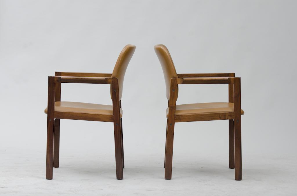 Cadeiras de Braço em Pau-santo produzidas por Bjerringbro Kontormøbler A/S | 2
