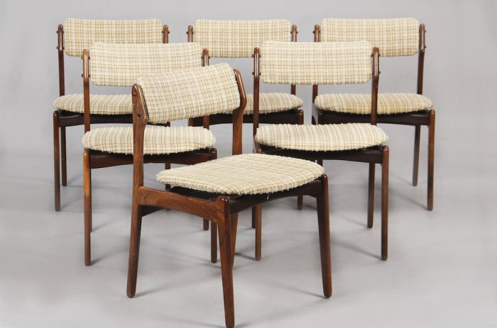 Erick Buch Model 49 Rosewood Dining Chairs for Oddense Maskinsnedkeri
