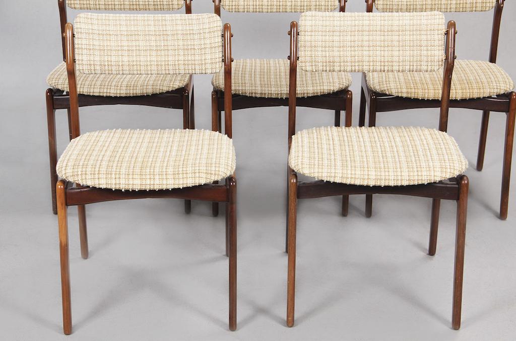 Cadeiras de Jantar em Pau-santo de Erick Buch para Oddense Maskinsnedkeri | 1