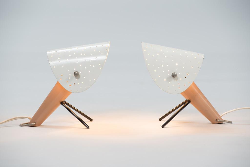 Mid-century Modern Ernst Lgl Lamps for Egon Hillebrand