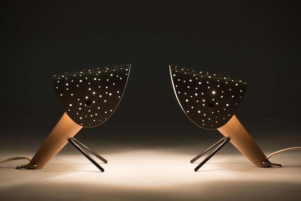 Mid-century Modern Ernst Lgl Lamps for Egon Hillebrand | 2