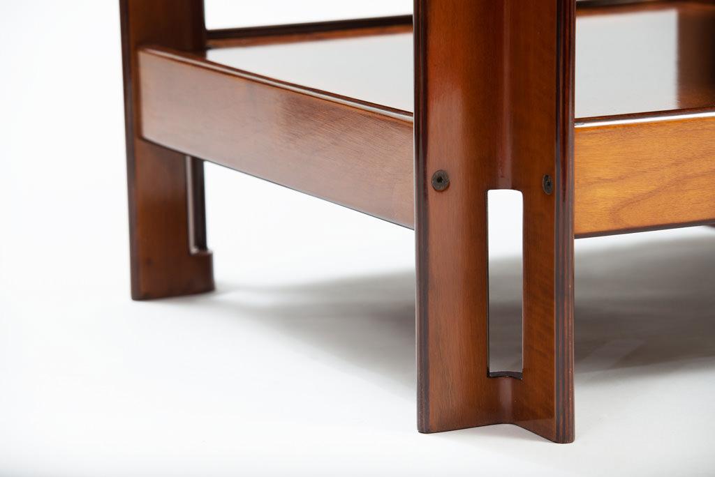 Mid-century Modern Formanova Walnut Side Table | 2