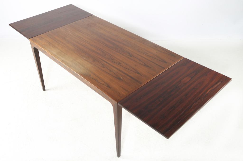 Severin Hansen Jr. Mid-Century Modern Rosewood Dining Table For Haslev Mobelfabrik | 3