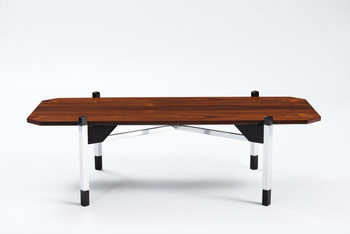 1970's Italian Rosewood Coffee Table