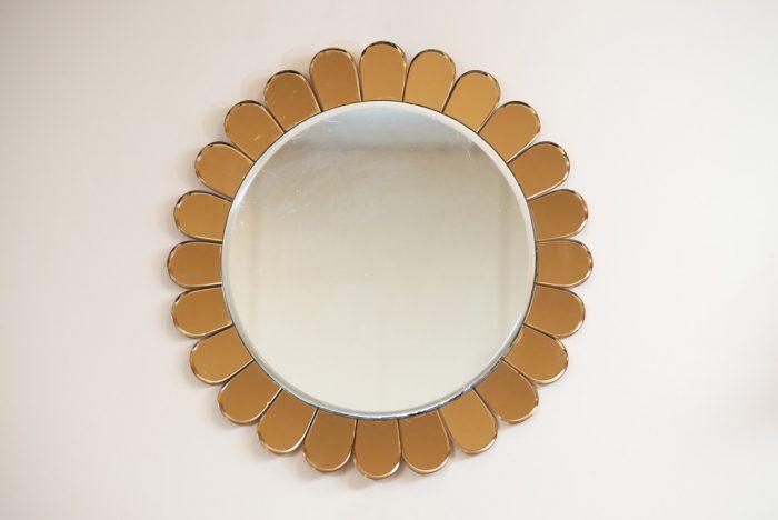 Mid-century Modern Flower Cristal Art Mirror