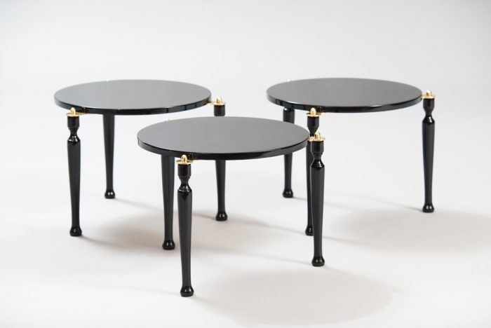 Mid-century Modern Three Stackable Italian Tables