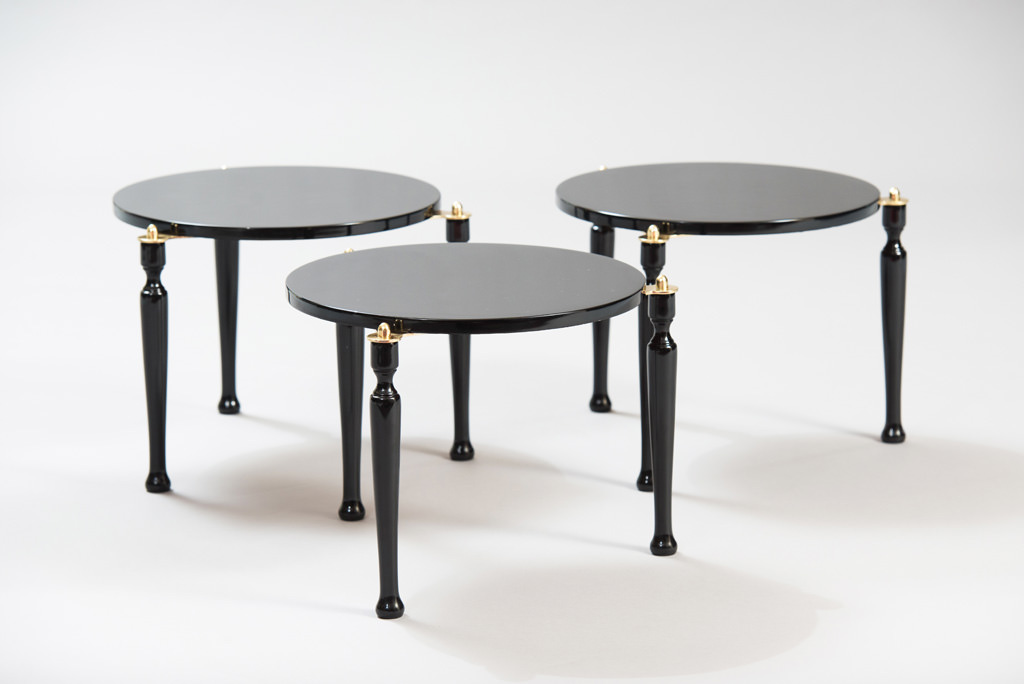 Mid-century Modern Three Stackable Italian Tables