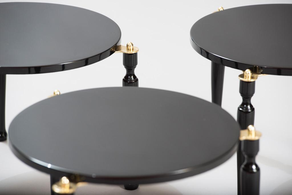 Mid-century Modern Three Stackable Italian Tables | 5