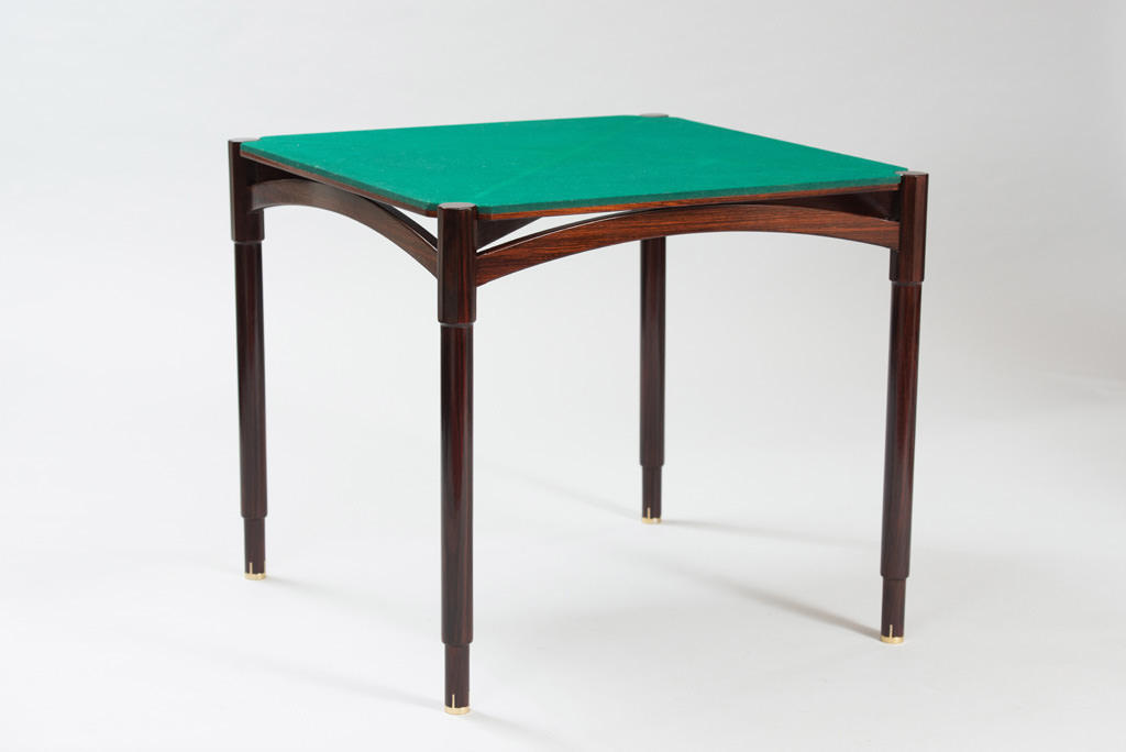 Mid-century Modern Rosewood Card Table | 2