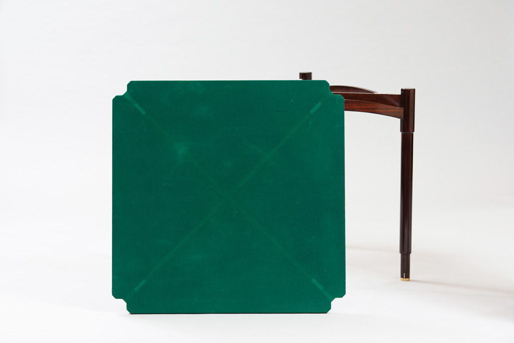 Mid-century Modern Rosewood Card Table | 3