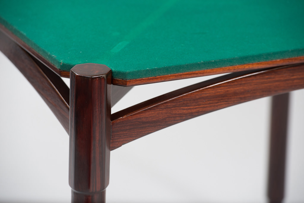 Mid-century Modern Rosewood Card Table | 5
