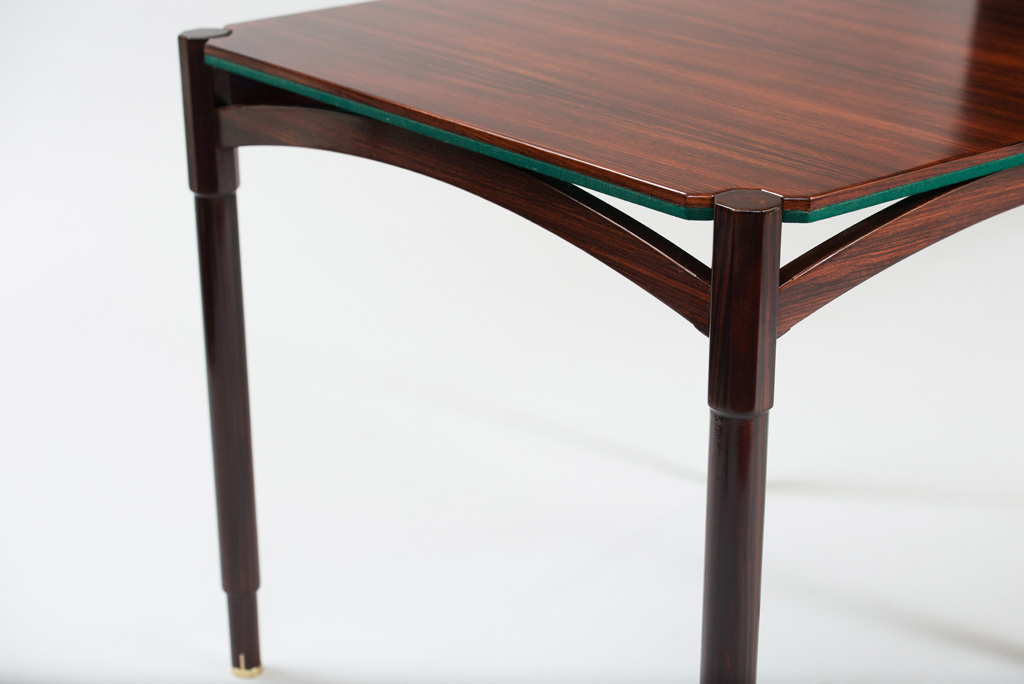 Mid-century Modern Rosewood Card Table | 6