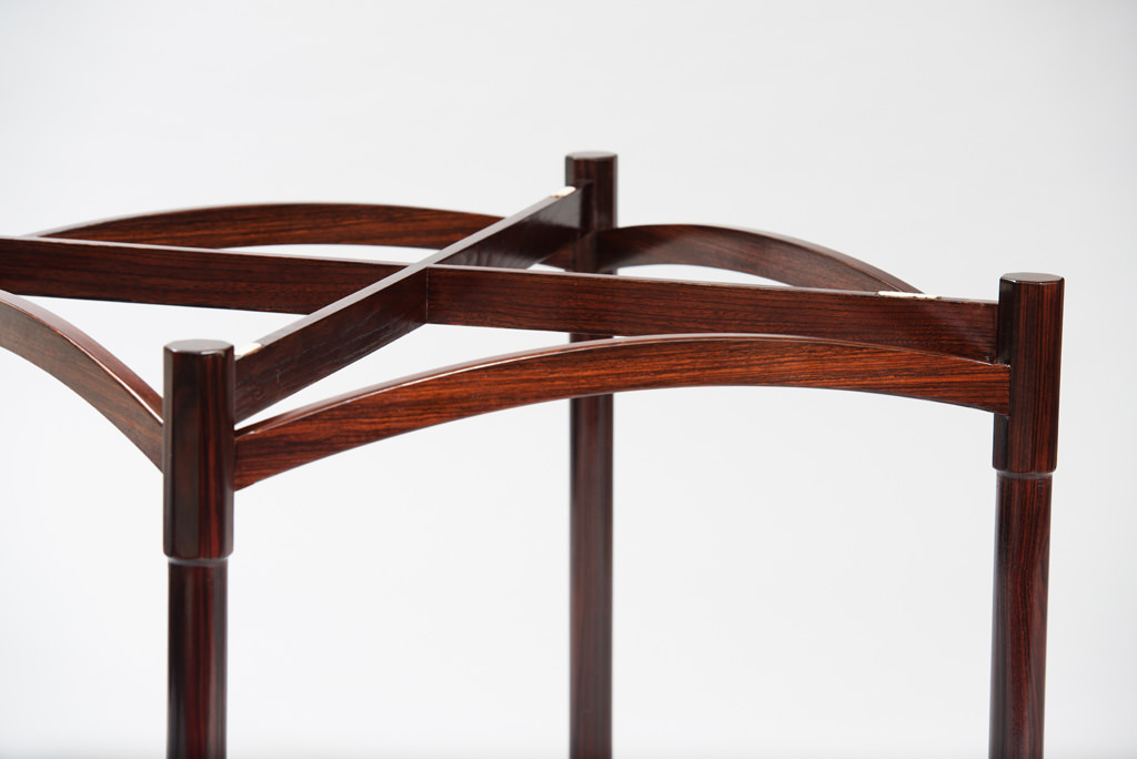 Mid-century Modern Rosewood Card Table | 7