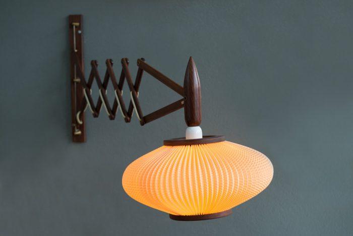 Mid-Century Modern Danish Rosewood Danish Wall Lamp 1950s