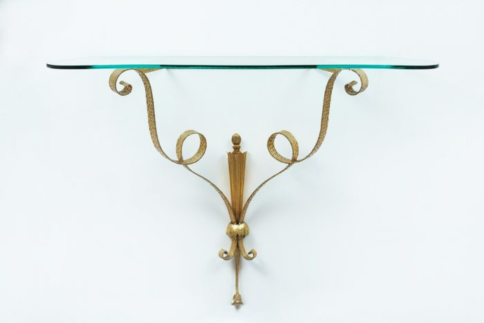 Pier Luigi Colli Gilt Wrought Iron Console